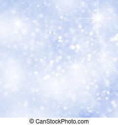 abstratos, inverno, fundo, neve