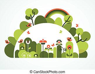 abstratos, jardim