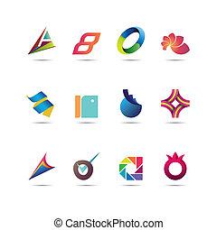 abstratos, jogo, ícone