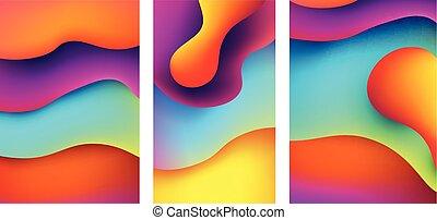 abstratos, jogo, coloridos, backgrounds.
