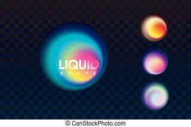 abstratos, líquido, coloridos, banner.