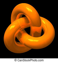 abstratos, laranja, infinito, volta