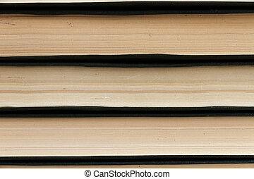 abstratos, lines., pilha livros