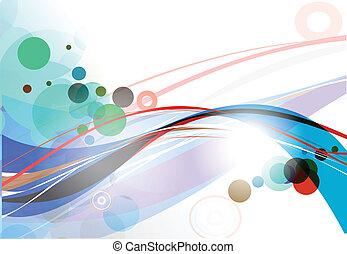 abstratos, linha, fundo, onda