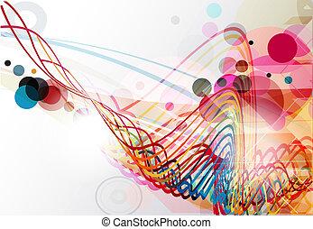 abstratos, linha, onda