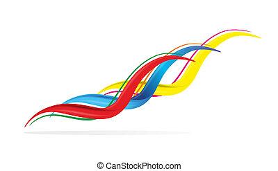 abstratos, linhas, coloridos