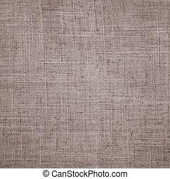 abstratos, linho, bege, tecido, textura, como, fundo