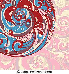 abstratos, luminoso, fundo, espiral