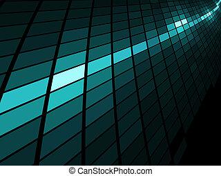 abstratos, luz azul, listra, mosaico, vetorial, experiência.