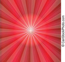 abstratos, luz vermelha, vetorial