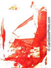 abstratos, /, mão, padrões, graphics:, fundo, desenhado, branca, quadro, quadro, vermelho