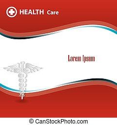 abstratos, médico, fundo, com, caduceus, médico, símbolo.