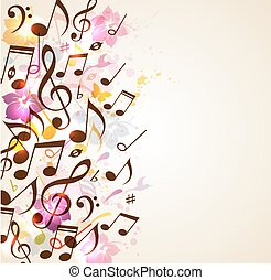 abstratos, música, fundo