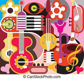 abstratos, música