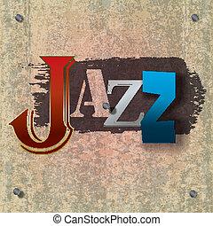abstratos, música jazz, fundo