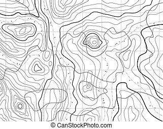 abstratos, mapa topográfico, com, não, nomes