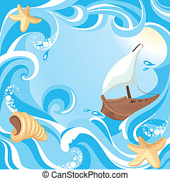 abstratos, mar, fundo