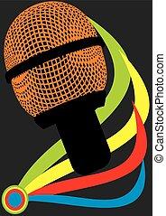 abstratos, microfone