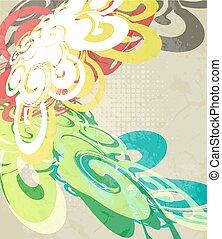 abstratos, modernos, coloridos, fundo