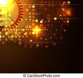 abstratos, modernos, glowing, fundo