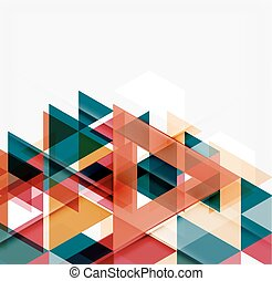 abstratos, modernos, sobrepondo, experiência., geomã©´ricas, triângulos