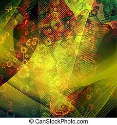 abstratos, molécula, fundo