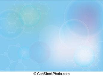abstratos, moléculas, médico, fundo