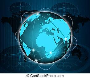 abstratos, mundo, tecnologia