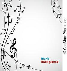 abstratos, musical, fundo