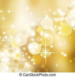 abstratos, natal, experiência., feriado, bokeh