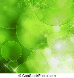 abstratos, natureza, fundo, (green, bokeh)