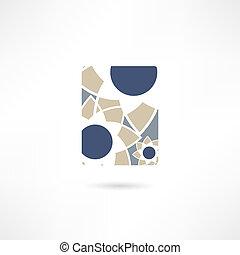 abstratos, negócio, ícone
