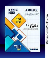 abstratos, negócio, experiência., voador, ou, folheto,...
