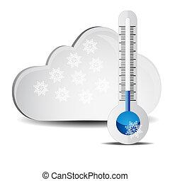 abstratos, nuvens, termômetro