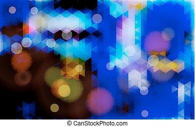 abstratos, obscurecido, azul, experiência.