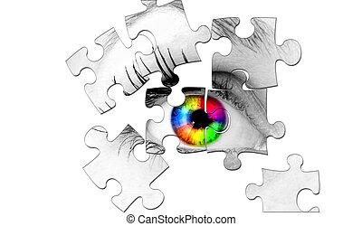 abstratos, olho, human