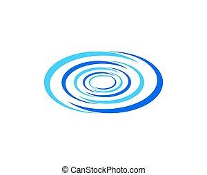 abstratos, onda, água, vetorial, desenho, modelo, logotipo