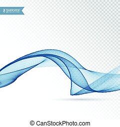 abstratos, onda azul, fundo, desenho