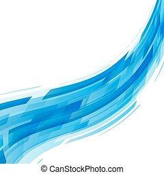 abstratos, onda azul, tecnologia, fundo