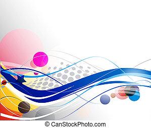abstratos, onda, linha