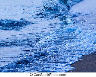abstratos, onda, oceânicos