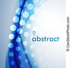 abstratos, ondas azuis, fundo