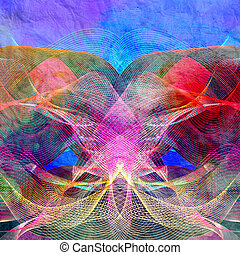 abstratos, ondulado, fundo