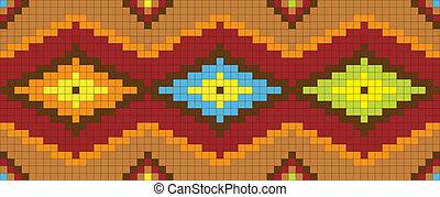 abstratos, ornament., étnico, ilustração, vetorial