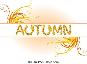 abstratos, outono, bandeira