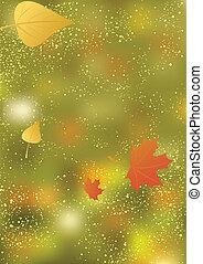 abstratos, outono, fundo