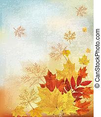 abstratos, outono, vetorial, retro, fundo, seu, design.