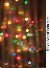 abstratos, pálido, obscurecido, circular, bokeh, luzes,...