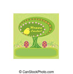 abstratos, páscoa, árvore