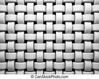 abstratos, padrão, de, branca, tecendo, pedaços, ilustração